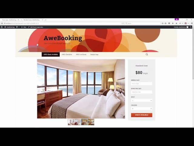 AweBooking - Online Hotel Booking WordPress Plugin