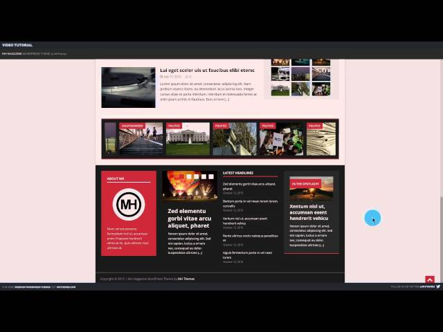 Video Tutorial: MH Magazine WordPress Theme V3.0.0