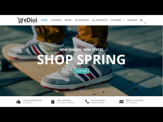 How to create an ecommerce website with wordpress 2017 - Divi theme ecommerce ...