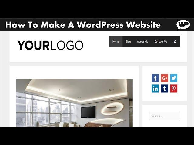 how to create a wordpress website 2017